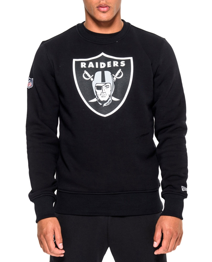 OAKLAND TEAM LOGO BLACK CREW NECK