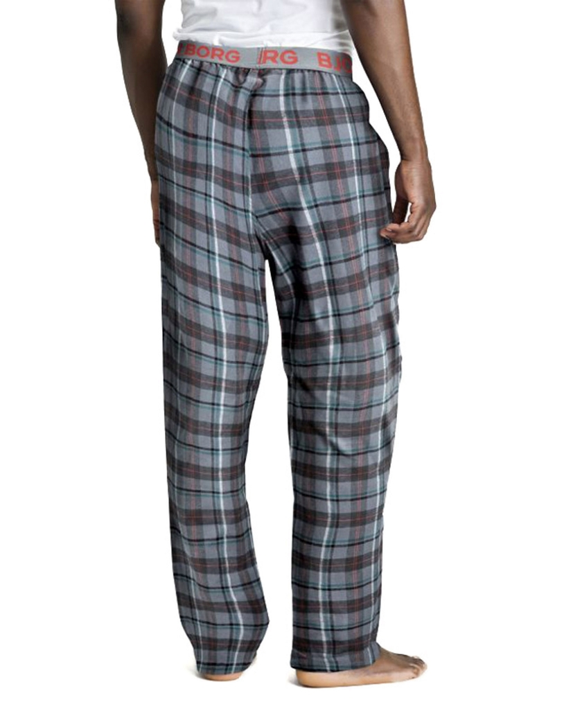 BJÖRN BORG WINTER CHECK PYJAMA PANT XMASBOX GREY