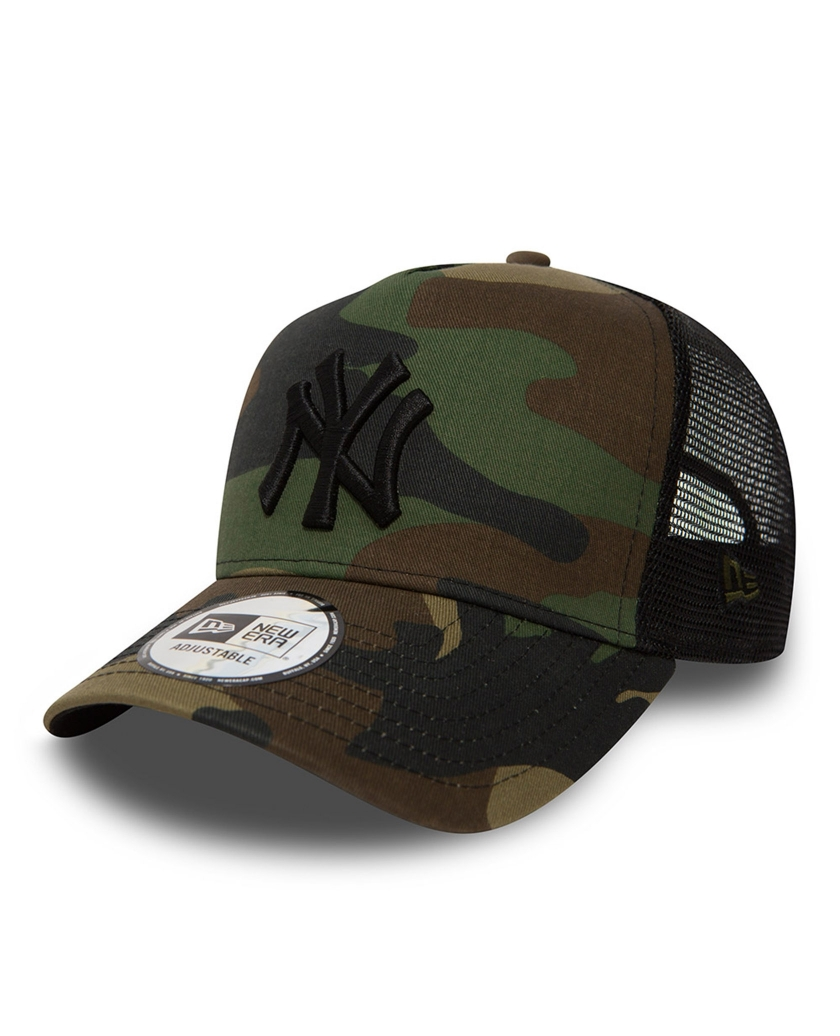 NEW YORK YANKEES CLEAN A FRAME CAMO TRUCKER