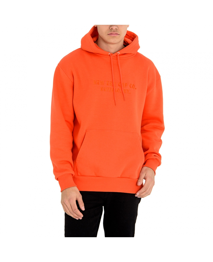 NEW ERA ORANGE PULLOVER HOODIE