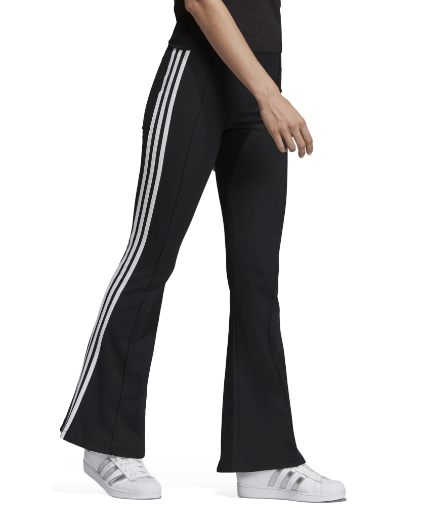 FLARED TRACK PANTS BLACK