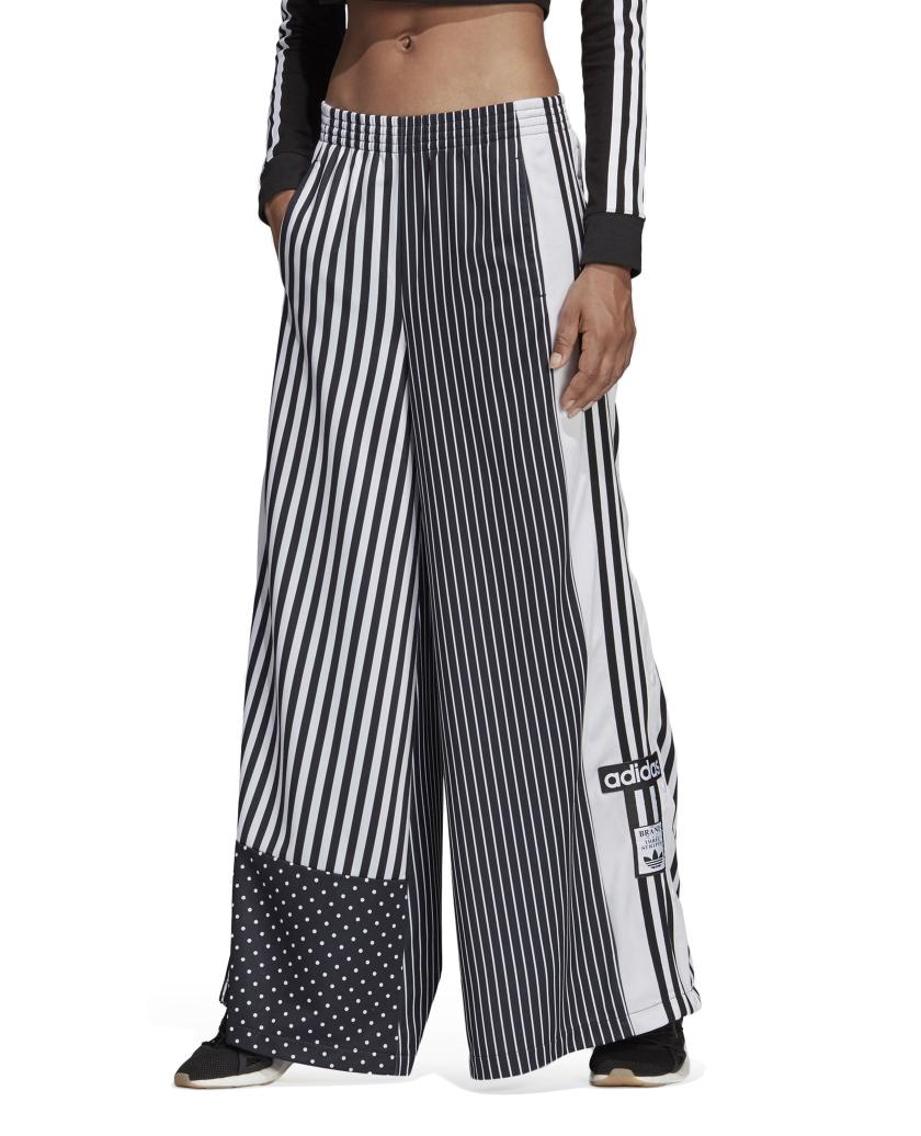 TRACK PANTS BLACK WHITE