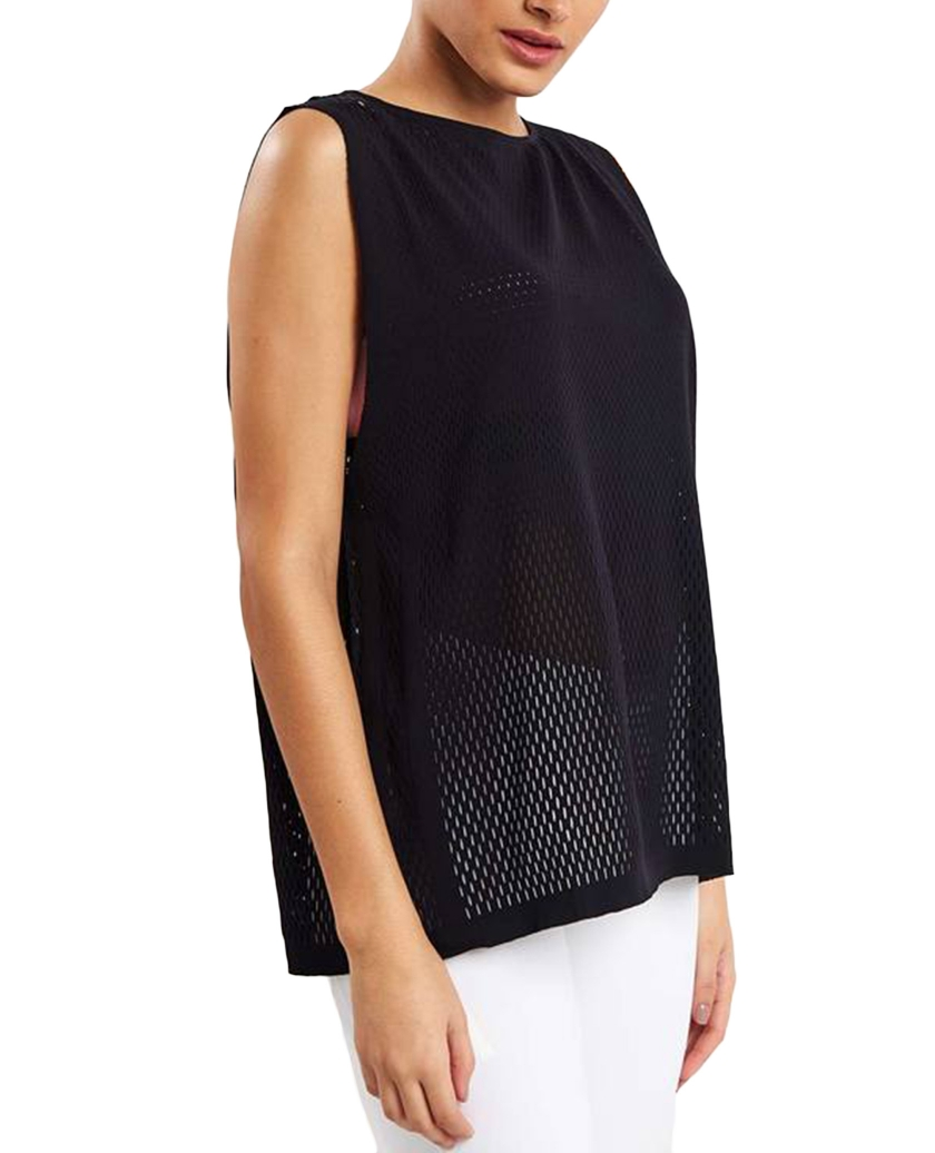 WARP KNIT TANK BLACK