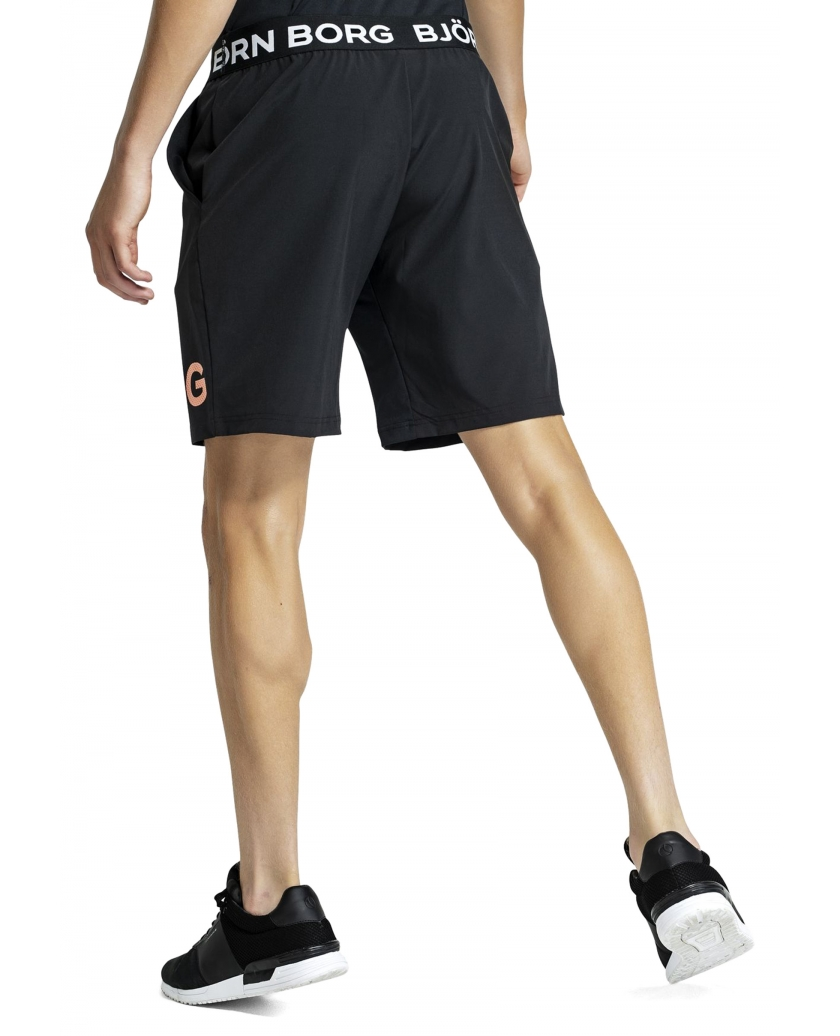 BJÖRN BORG L.A AUGUST SHORTS BLACK ORANGE