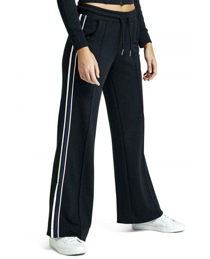 BJÖRN BORG SIGNATURE WIDE TRACK PANTS BLACK BEAUTY