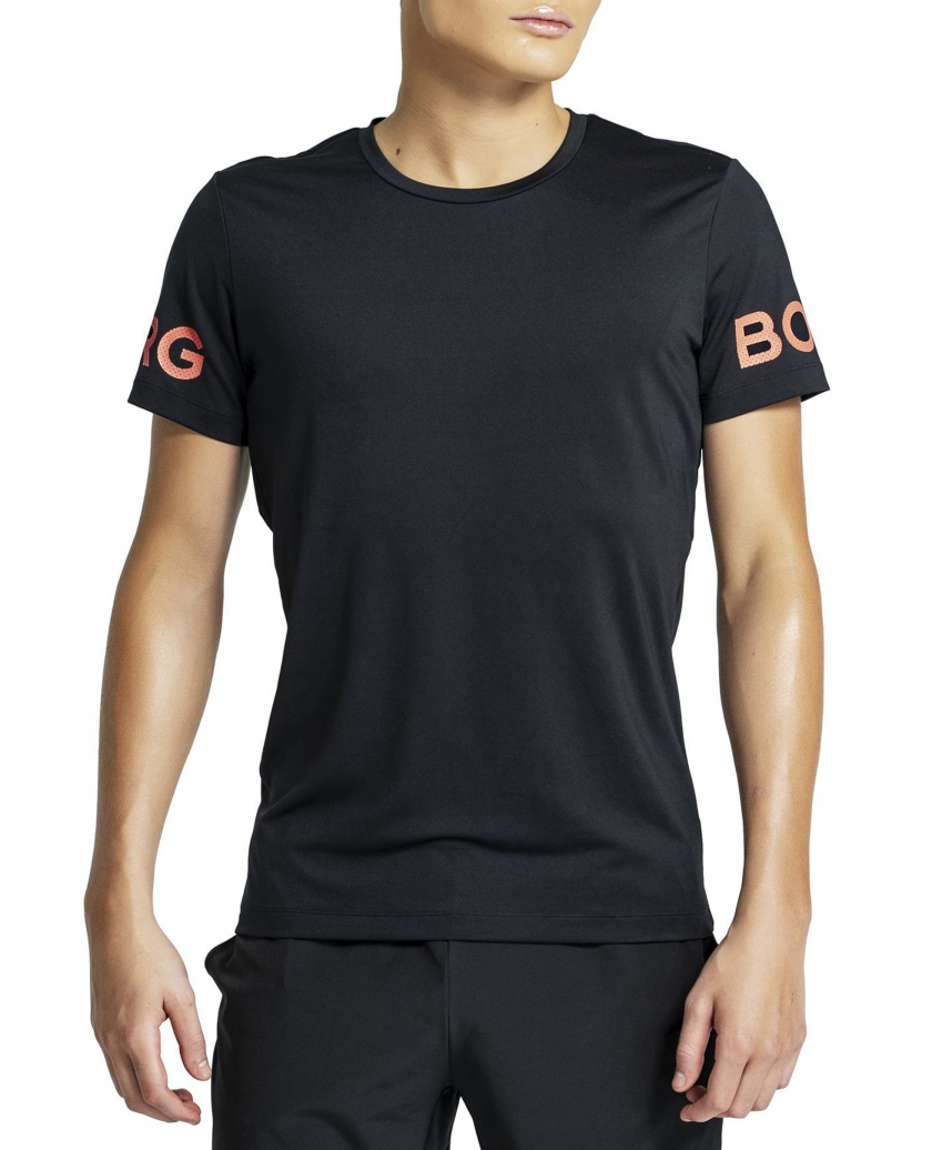 BJÖRN BORG L.A BORG TEE BLACK ORANGE