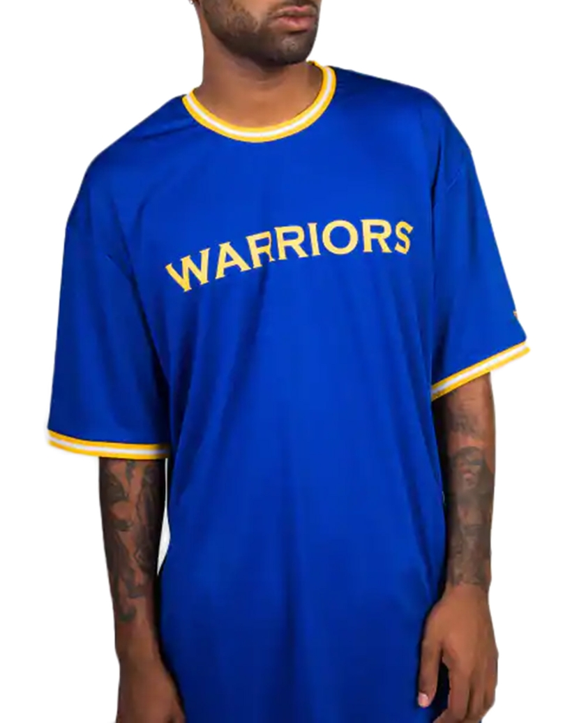 GOLDEN STATE WARRIORS BLUE WORDMARK TIPPING T-SHIRT