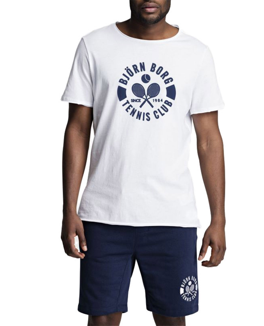 BJÖRN BORG SUMMER TENNIS CLUB TEE WHITE