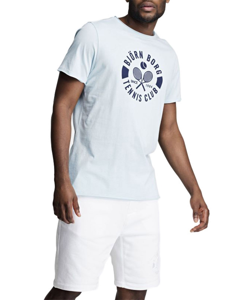 BJÖRN BORG SUMMER TENNIS CLUB TEE BLUE