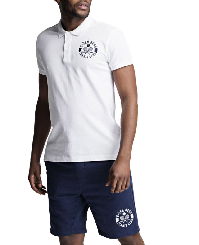 BJÖRN BORG SUMMER TENNIS CLUB POLO WHITE