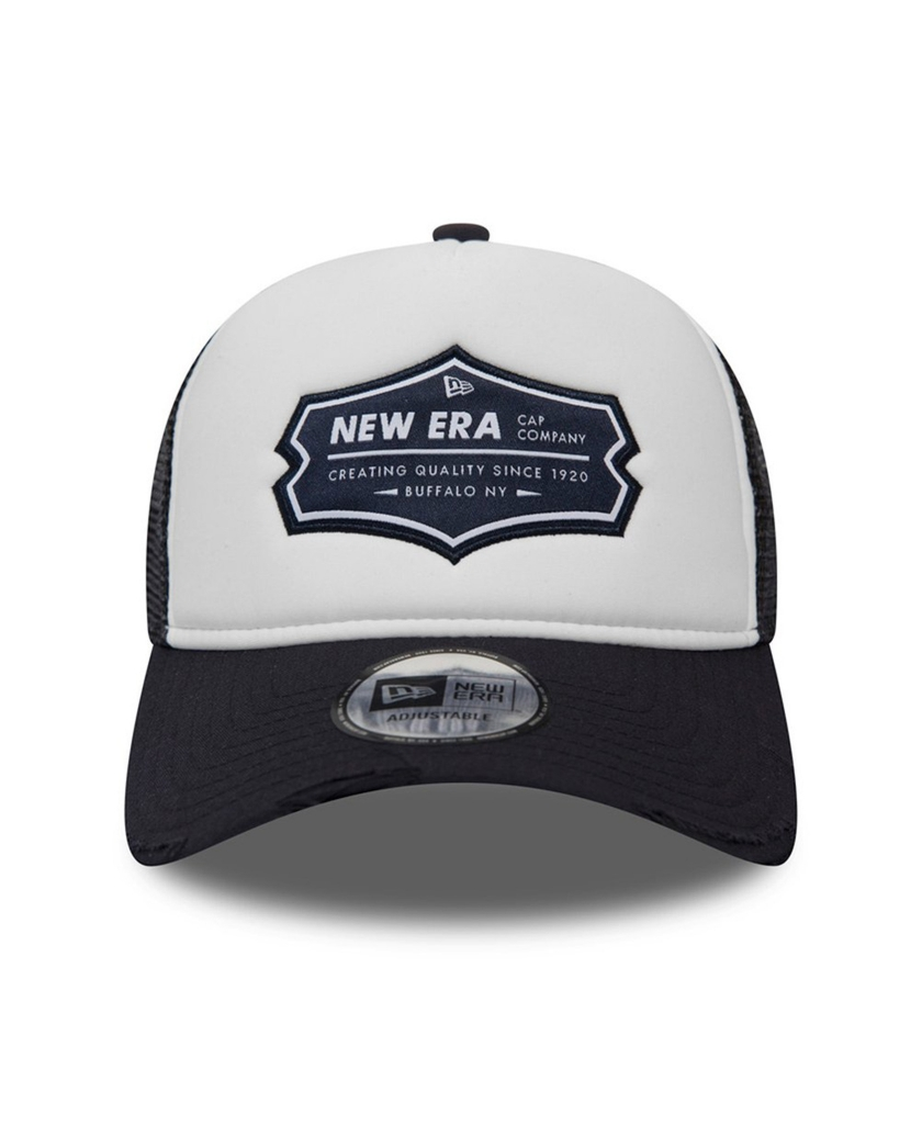 NEW ERA PATCH TRUCKER DISTRESSED NAVY