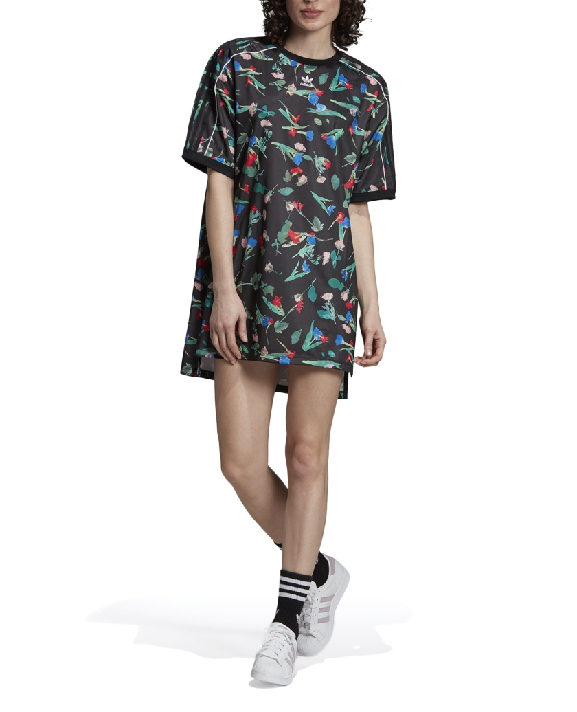 FLORAL ALLOVER PRINT TEE DRESS