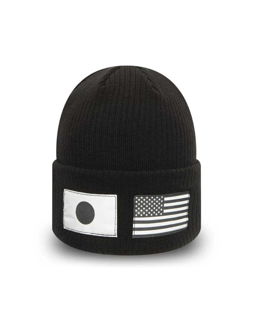 NEW ERA BLACK AND WHITE FLAG KNIT