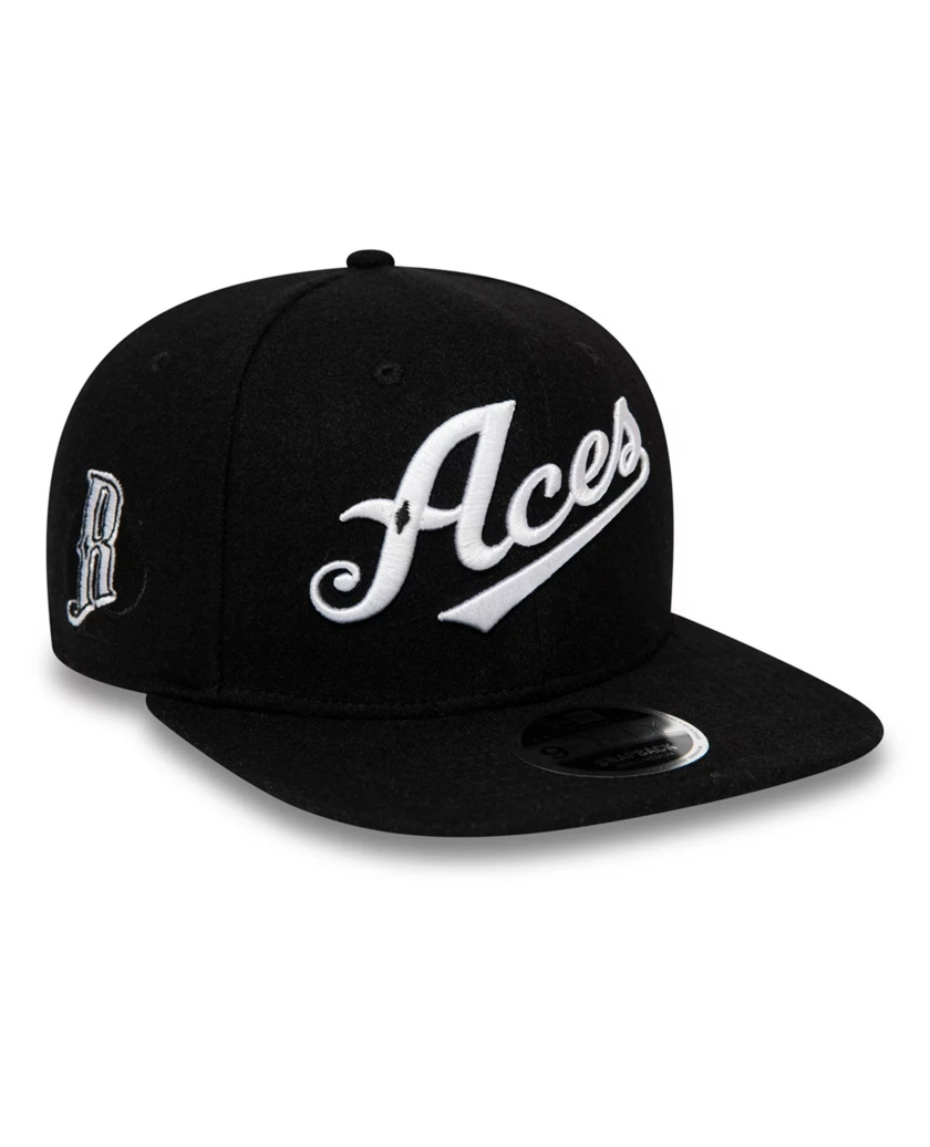 RENO ACES VINTAGE WOOL BLACK 9FIFTY CAP