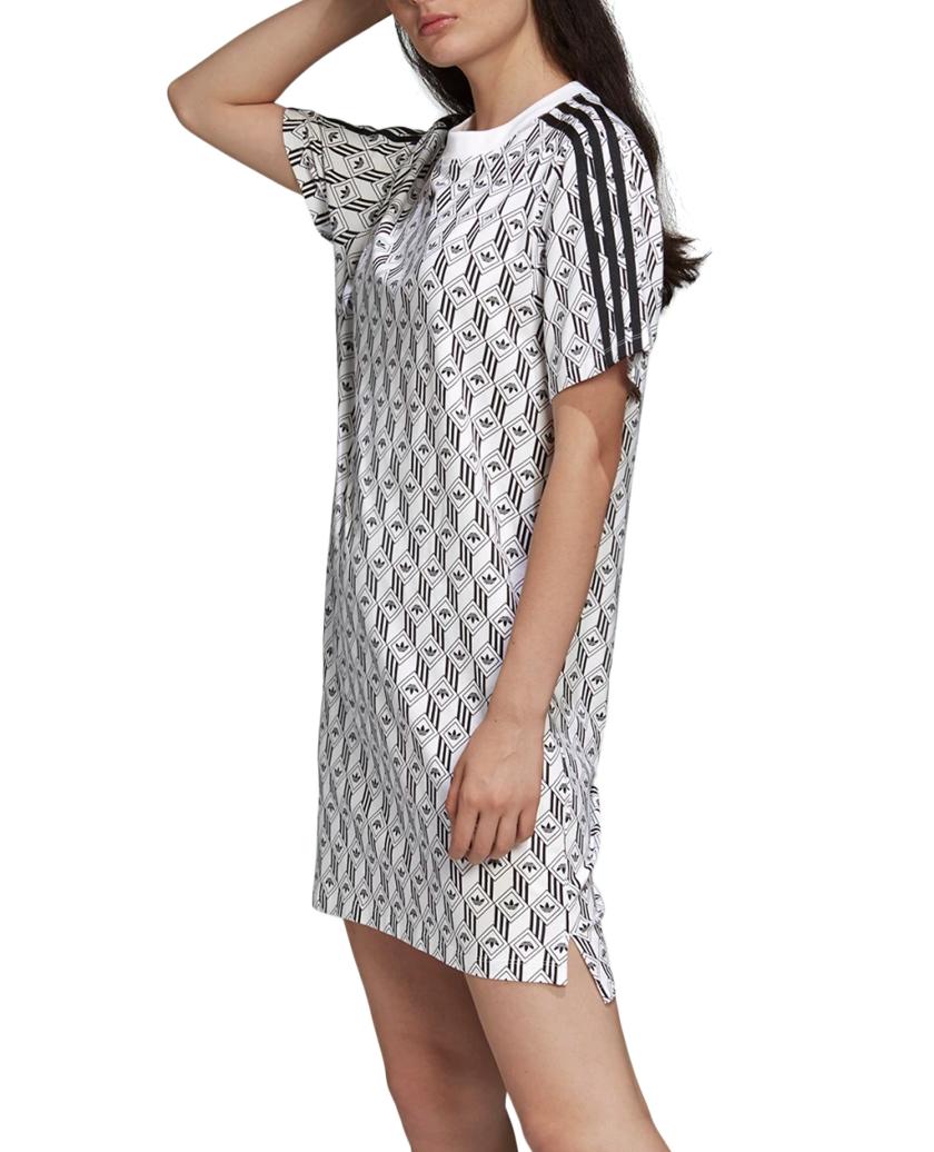 ADIDAS TEE DRESS WHITE