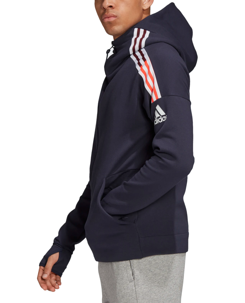 ADIDAS Z.N.E. 3-STRIPES HOODIE LEGEND INK