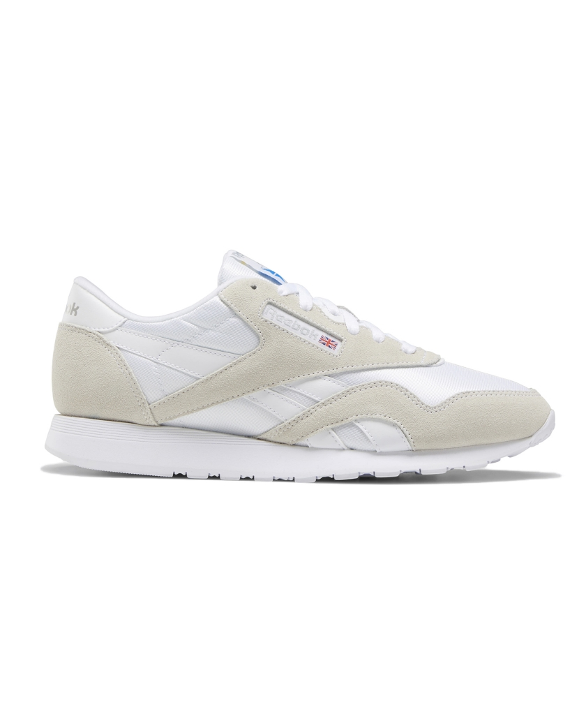 REEBOK CLASSIC NYLON SHOES WHITE
