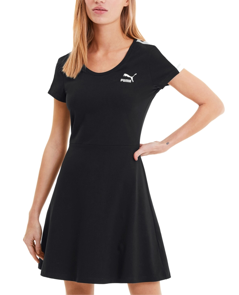 PUMA CLASSICS SHORT SLEEVE WOMEN'S DRESS BLACK