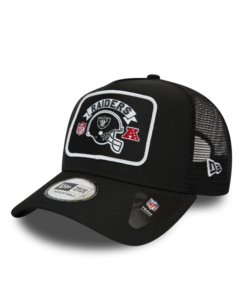 OAKLAND RAIDERS PATCH BLACK A-FRAME TRUCKER