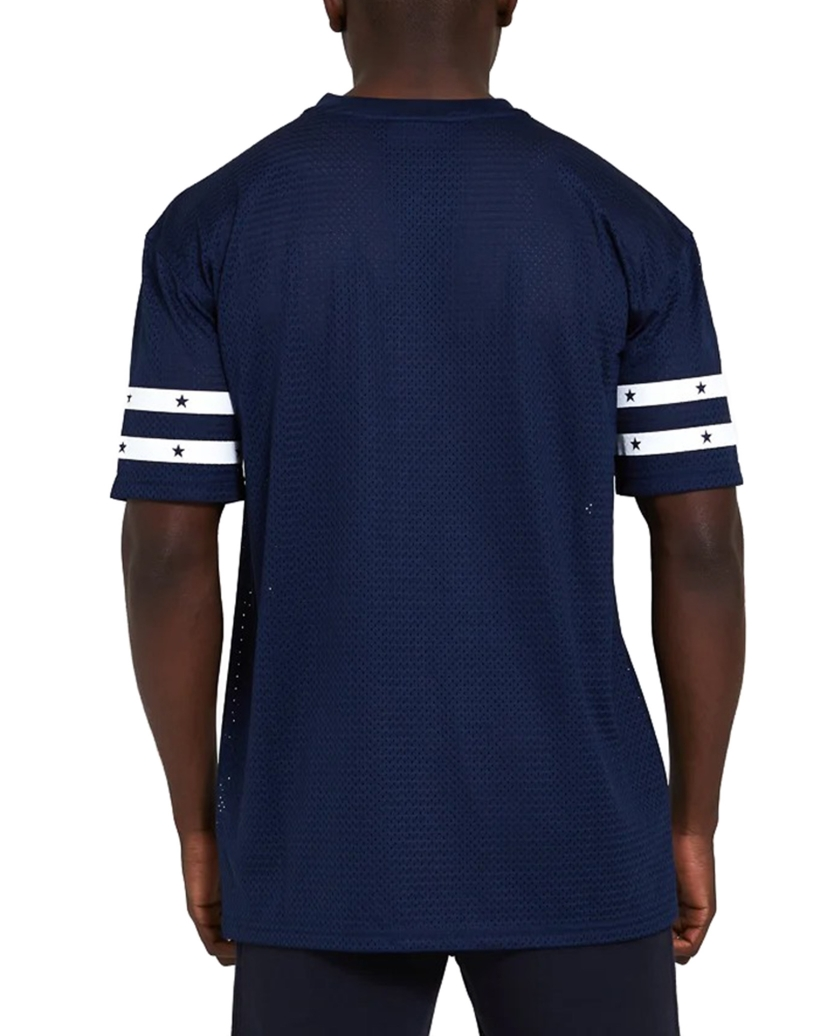 NEW ENGLAND PATRIOTS OVERSIZED MESH NAVY T-SHIRT