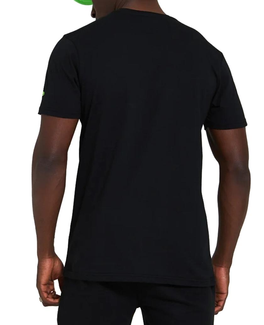 NEW ERA NEON GRAPHIC BLACK T-SHIRT
