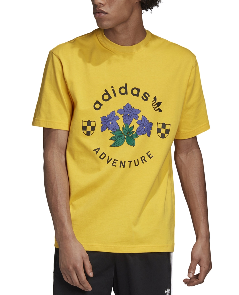 ADIDAS ADVENTURE GRAPHIC TEE BOLD GOLD