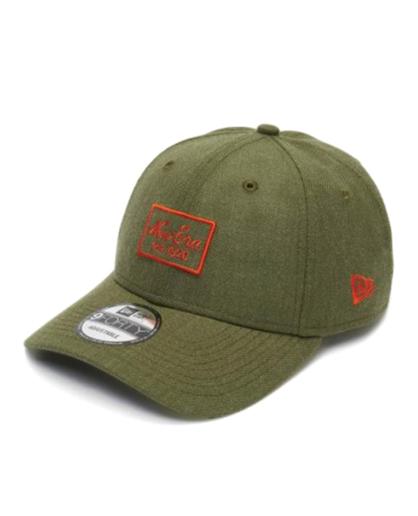 NEW ERA HEATHER 9FORTY CAP OLIVE ORANGE
