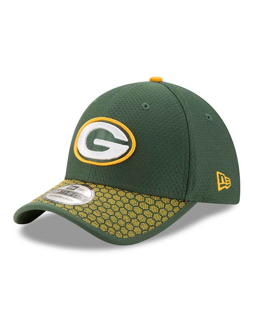 New Era Green Bay Packers Baseball Cap Hat NFL 2017 Sideline 39Thirty