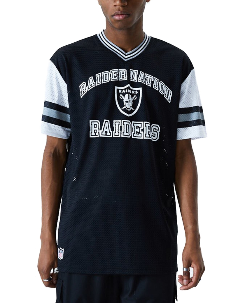 LAS VEGAS RAIDERS STRIPE SLEEVE BLACK OVERSIZED T-SHIRT