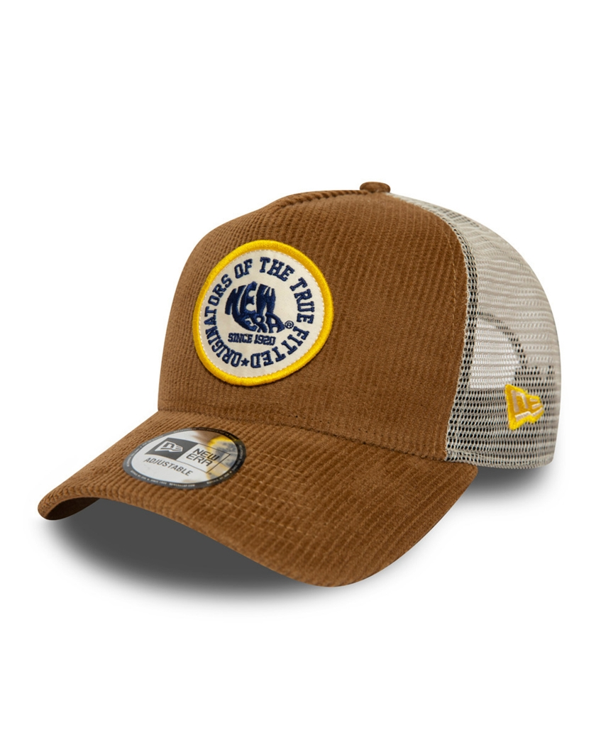 NEW ERA FABRIC PATCH CORD BROWN TRUCKER