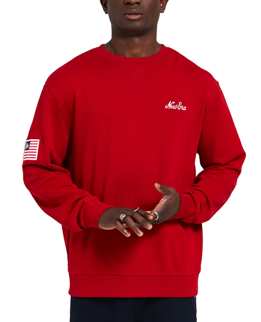 NEW ERA SCRIPT PANEL RED SWEATSHIRT