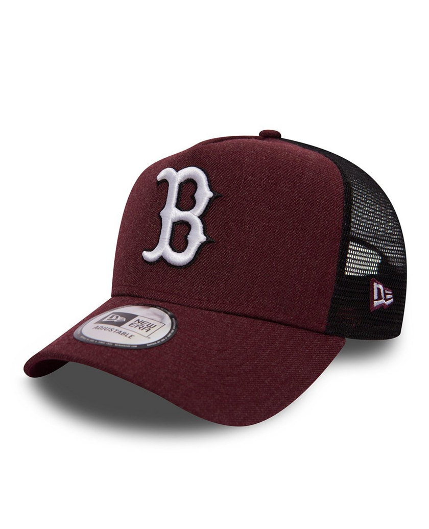 BOSTON RED SOX HEATHER MAROON RED A FRAME TRUCKER