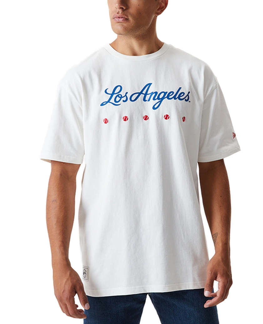 LA DODGERS HERITAGE WHITE OVERSIZED T-SHIRT