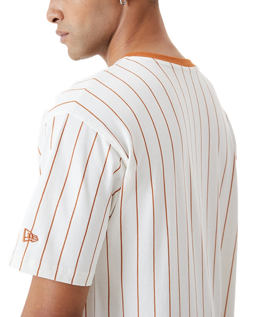 NEW ERA PINSTRIPE OVERSIZED WHITE T-SHIRT