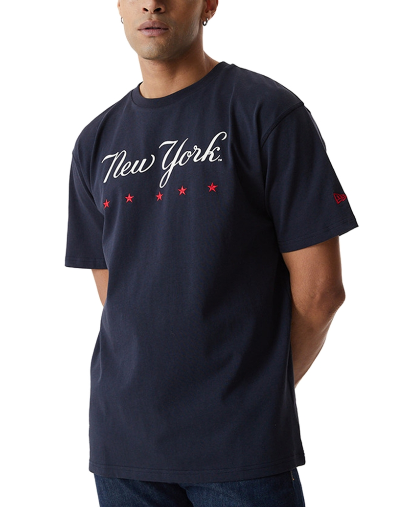 NEW YORK YANKEES HERITAGE NAVY OVERSIZED T-SHIRT
