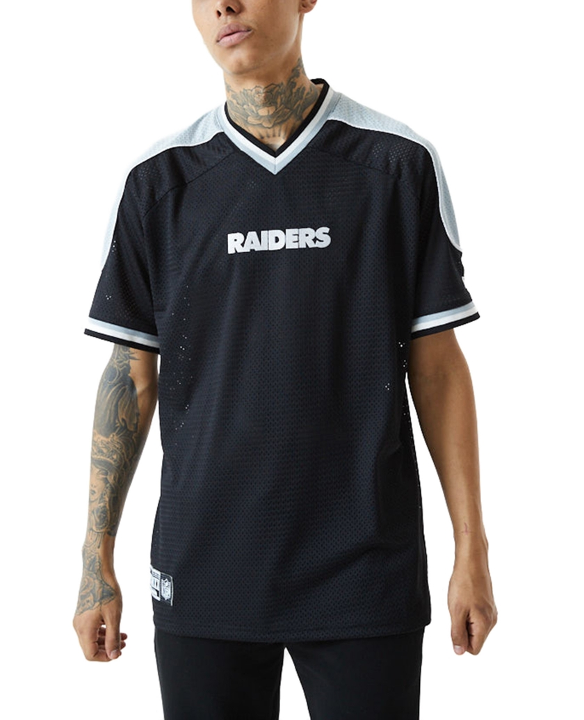 LAS VEGAS RAIDERS CONTRAST PANEL BLACK JERSEY