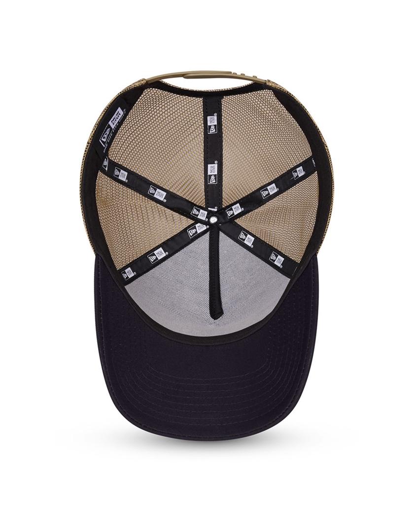 NEW ERA SPORTS PATCH NAVY A-FRAME TRUCKER CAP
