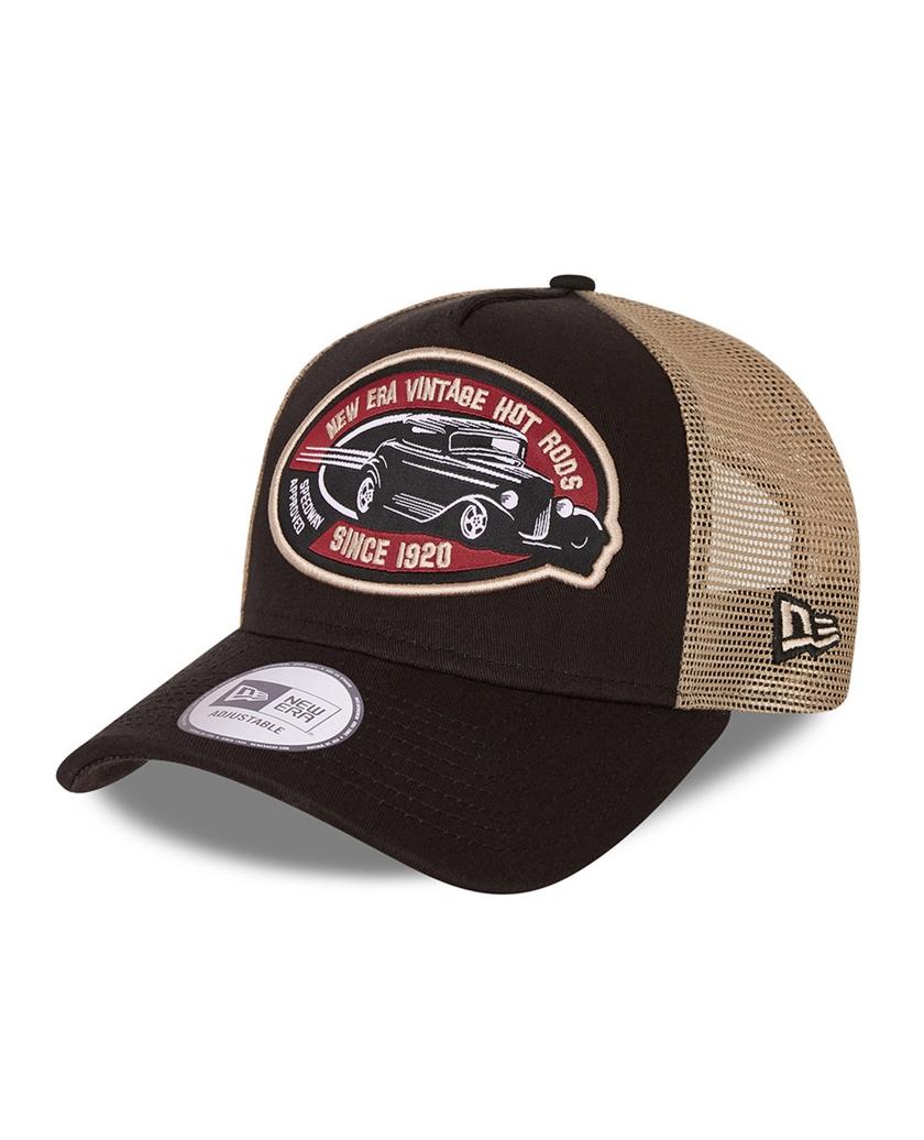 NEW ERA HOT ROD BLACK A-FRAME TRUCKER CAP