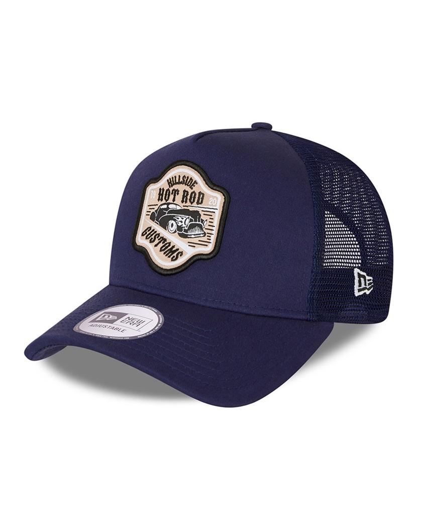 NEW ERA HOT ROD BLUE A-FRAME TRUCKER CAP